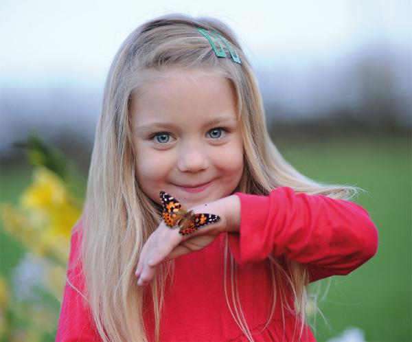 Der Schmetterlingsgarten eignet sich fuer Kinder ab dem Kindergartenalter
