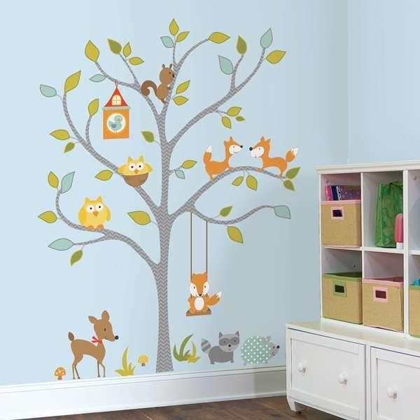 Fuchs und seine Freunde Wandtattoo Wandsticker Wandaufkleber Wandb RoomMates