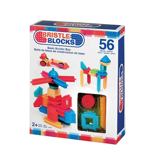 Steckspielzeug Noppenbausteine Bristle Blocks 58 Teile Jungle Set in Box